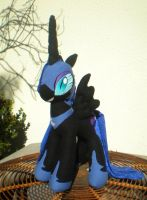 Cuddly Nightmare Moon doll, view 2 by joitheartist