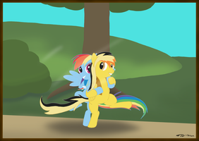 Electuroo and Rainbow Dash by Electuroo