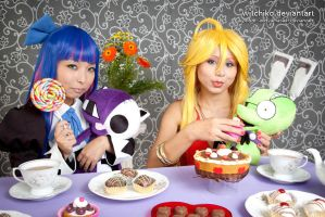 Eat this cake CHUCKKKKK::::: by Witchiko