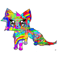 RAINBOW KITTY! by Sugerpie56