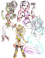 Monster Girls Redo~~ by Coraline-176