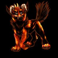 Deus as a Pup Hellhound by TheTyro