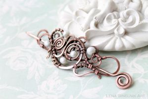 copper brooch by Schepotkina