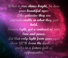 Your Eyes are like Galaxies by angelswake-tf