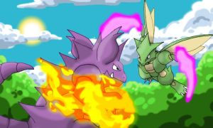 Nidoking VS Scyther by CondemnedKid