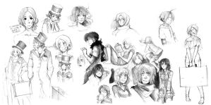 sketches 2009.. by Razuri-the-Sleepless