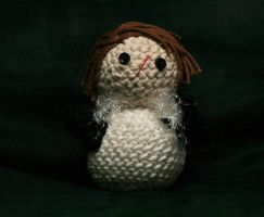 Squall Leonhart Crochet Doll by hookedonchibis