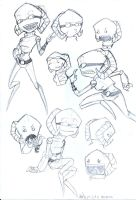 Beebles Sketches by InvaderSaik