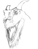 Dragon Head Sketch~ by Nyan-the-Reaper