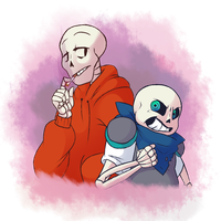 Sans and Papyrus~ by Endermage001