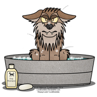 Bathtime for Fleabag by LordDominic