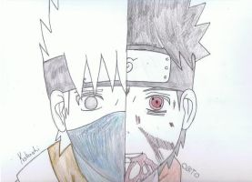 Kakashi and Obito by aaron-john-young