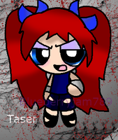 Personal Taser puffed design by Blueberryjam789