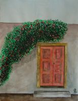 2010 - Old door and flowers by kostaskouk
