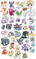 Hella pokemon stickers by Applewaffles