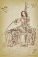 Legolas at Rivendell by aautio