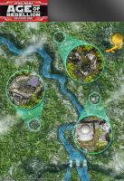Star Wars, Age of Rebellion roleplaying game map 1 by henning