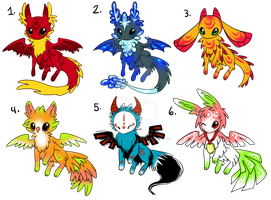 mythical adoptables by michellescribbles