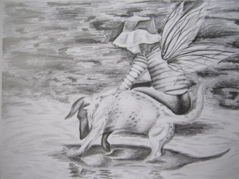 Pencil Sketch: Mud Fairy. by Butterfly-Empress7