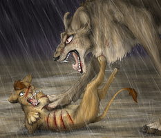 Kopa's last fight by EvilSonikku