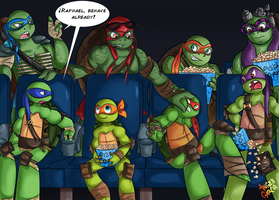 Movie Time with Turtles by AngGrc