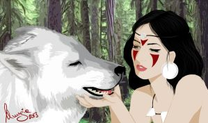 princess mononoke by NessaElf