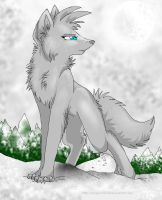 snow wolf by NonsensicalLogic