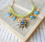 Starburst Statement Necklace by RetroRevivalBoutique