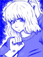 Blue girl by a friend by yellowvest123