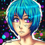 Blue Hair by heitor-jedi