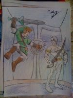 Link vs. Ghirahim colored by Twinkie5000