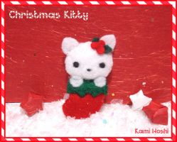 Christmas Kitty Plush by littlepaperforest
