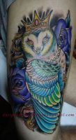 Tattoo - The Qeen of Owls by Xenija88