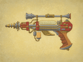 Steampunk Gun by TheCleverFox