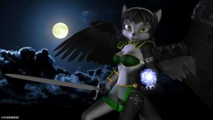 Luna - The holy Guardian of the Moon by lycanarius