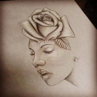 Rose n Face Pretty Grotesque by heartsandanchors
