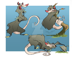 Opossum - Action Poses by MScott23