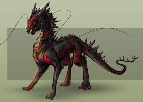 TB - infected dragonling by valravnclaw