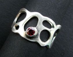Organic Garnet ring by loopy-dloupe