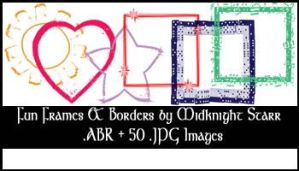 Fun frames, borders and shapes by MidknightStarr