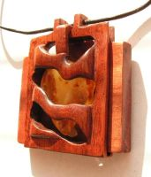 Amber and Wood by AmberSculpture