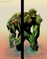 Man Thing and Swamp Thing by ParisAlleyne