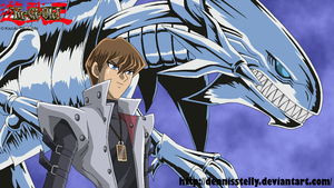 Seto Kaiba with Dragon - Lineart colored by DennisStelly