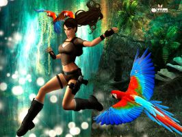 Lara Croft 47 by Orphen5