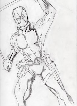 Deadpool - Partial Inks, pencil by DoYouHaveYourTowel42