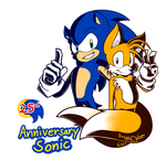 Sonic 25th Anniversary by OmegaSam7890