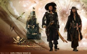 Hector Barbossa and Jack Sparrow. by Bormoglot