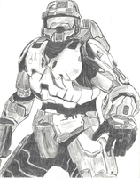 Old Work - Master Chief by Harkaiden