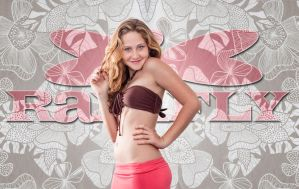Ranifly Bikini, and pink skirt by emilyrosecaspe