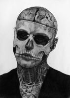 Rick Genest - Zombie Boy by princessinshadows